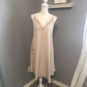 Free People Flowy Tan Dress